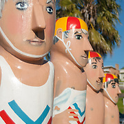 Bollard statues on Geelong foreshore.