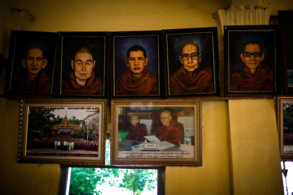 Portraits of previous leaders of this monastery line the corridors.