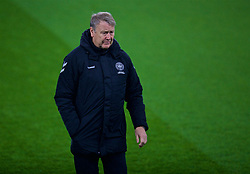 CARDIFF, WALES - Thursday, November 15, 2018: Denmark's head coach Aage Hareide during a training session at the Cardiff City Stadium ahead of the UEFA Nations League Group Stage League B Group 4 match between Wales and Denmark. (Pic by David Rawcliffe/Propaganda)