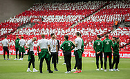FOOTBALL: The layers of Ireland inspecting the pitch before the EURO 2020 Qualifier match between Denmark and Ireland at Parken Stadium on June 7, 2019 in Copenhagen, Denmark. Photo by: Claus Birch / ClausBirchDK.