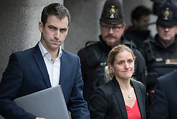 © Licensed to London News Pictures. 23/11/2016. London, UK. Family murdered MP Jo Cox speak to reporters outside The Old Bailey after Thomas Mair was found guilty of her murder. Jo Cox's husband Brendan Cox is seen with Jo's sister Kim. Defendant Thomas Mair chose not to give any evidence in his defence.  Mair shot and stabbed the 41-year-old Member of Parliament outside her constituency surgery in Birstall, near Leeds, Yorkshire on June 16 this year and has been given a whole life sentence. Photo credit: Peter Macdiarmid/LNP
