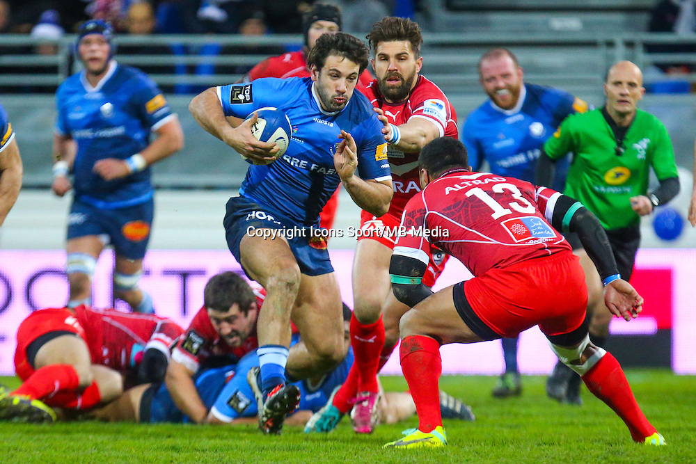 Remi Lamerat - 28.12.2014 - Castres / Montpellier - 14eme journee de Top 14 <br />
