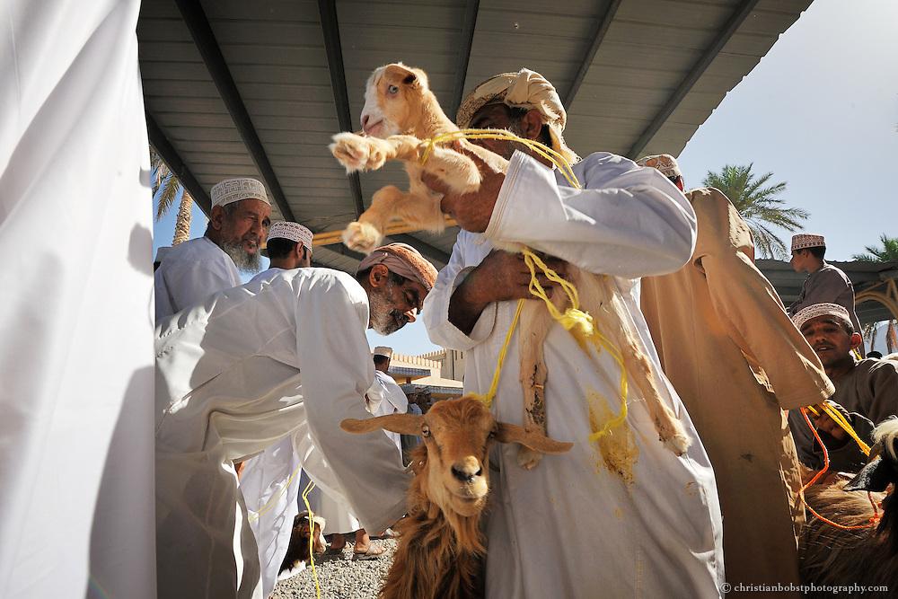 Animal market at the Nizwa Souk, Oman, 2011