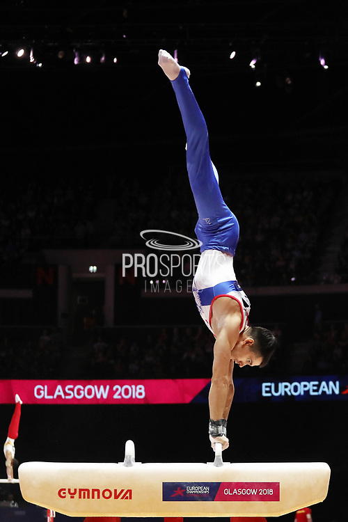 Nikolai Kuksenkov (Russia) the pommel horse competition during the presentation of the teams during the European Championships Glasgow 2018, Team Men Final at The SSE Hydro in Glasgow, Great Britain, Day 10, on August 11, 2018 - Photo Laurent Lairys / ProSportsImages / DPPI