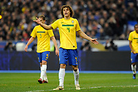 FOOTBALL - FRIENDLY GAME 2010/2011 - FRANCE v BRAZIL - 9/02/2011 - PHOTO JEAN MARIE HERVIO / DPPI - DAVID LUIS (BRA)