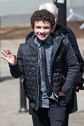 © Licensed to London News Pictures . 30/05/2015 . Manchester , UK . Alex Bain arriving . A public memorial for Coronation Street actress Anne Kirkbride at Manchester Cathedral , who died on 19th January 2015 . Photo credit : Joel Goodman/LNP