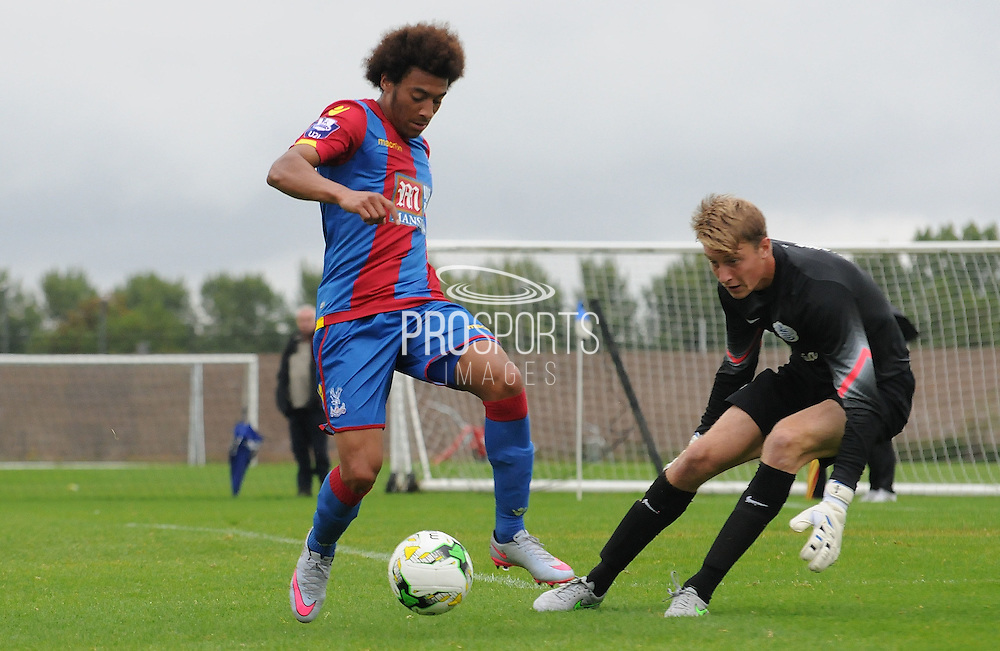 Keshi Anderson with a 1 on 1 chance during the U21 Professional Development League match between U21 QPR and U21 Crystal Palace at the Loftus Road Stadium, London, England on 31 August 2015. Photo by Michael Hulf.