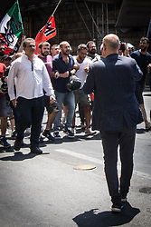 June 15, 2017 - Rome, Italy, Italy - Demonstration of protest organized by ''Forza Nuova' (Credit Image: © Andrea Ronchini/Pacific Press via ZUMA Wire)