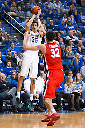 Kentucky forward Derek Willis shoots a three point basket in the second half.<br /> <br /> The University of Kentucky hosted the University of Georgia, Tuesday, Feb. 09, 2016 at Rupp Arena in Lexington .