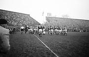 Irish Rugby Football Union, Ireland v Scotland, Five Nations, Landsdowne Road, Dublin, Ireland, Saturday 22nd February, 1964,.22.2.1964, 22.2.1964,..Referee- A C Luff, Rugby Football Union, ..Score- Ireland 3 - 6 Scotland, ..Irish Team, ..T J Kiernan,  Wearing number 15 Irish jersey, Full Back, Cork Constitution Rugby Football Club, Cork, Ireland,..P J Casey, Wearing number 14 Irish jersey, Right Wing, University College Dublin Rugby Football Club, Dublin, Ireland, ..M K Flynn, Wearing number 13 Irish jersey, Right Centre, Wanderers Rugby Football Club, Dublin, Ireland, ..J C Walsh,  Wearing number 12 Irish jersey, Left Centre, University college Cork Football Club, Cork, Ireland,..K J Houston, Wearing number 11 Irish jersey, Left Wing, Queens University Rugby Football Club, Belfast, Northern Ireland,..C M H Gibson, Wearing number 10 Irish jersey, Stand Off, Cambridge University Rugby Football Club, Cambridge, England, and, N.I.F.C, Rugby Football Club, Belfast, Northern Ireland, ..J C Kelly, Wearing number 9 Irish jersey, Scrum Half, University College Dublin Rugby Football Club, Dublin, Ireland,..P J Dwyer, Wearing number 1 Irish jersey, Forward, University College Dublin Rugby Football Club, Dublin, Ireland, ..A R Dawson, Wearing number 2 Irish jersey, Forward, Wanderers Rugby Football Club, Dublin, Ireland, ..R J McLoughlin, Wearing number 3 Irish jersey, Forward, Gosforth Rugby Football Club, Newcastle, England, ..W A Mulcahy, Wearing number 4 Irish jersey, Captain of the Irish team, Forward, Bective Rangers Rugby Football Club, Dublin, Ireland,  ..W J McBride, Wearing number 5 Irish jersey, Forward, Ballymena Rugby Football Club, Antrim, Northern Ireland,..E P McGuire, Wearing number 6 Irish jersey, Forward, University college Galway Football Club, Galway, Ireland,  ..M G Culliton, Wearing number 8 Irish jersey, Forward, Wanderers Rugby Football Club, Dublin, Ireland, ..N A Murphy, Wearing number 7 Irish jersey, Forward, Cork Constitution Rugby Football Club,