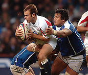 2005 Rugby, Investec Challenge, England vs Manu Samoa, Charlie Hodgeson, breaking through mid field, as England beat Samoa 40 points to 3 at the  RFU Stadium, Twickenham, ENGLAND:     26.11.2005   © Peter Spurrier/Intersport Images - email images@intersport-images..