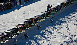 22.01.2011, Südtirol Arena, Antholz, ITA, IBU Biathlon Worldcup, Antholz, Mass Start Men, im Bild Feature Schiessstand // Feature Shooting Range during IBU Biathlon World Cup in Antholz, Italy, EXPA Pictures © 2011, PhotoCredit: EXPA/ J. Feichter