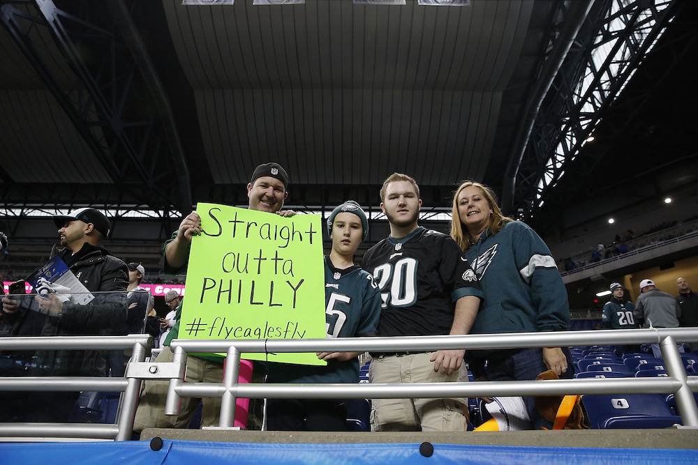 ef9e7702bdd Philadelphia Eagles Fans in the stands before the NFL Game between the Philadelphia  Eagles and the.