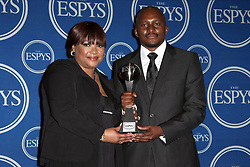 Zindzi Mandela, Zondwa Mandela  Nelson Madela'S Daughter & Grandson  The 2009 Espy'S, Pressroom  Downtown, Los Angeles, CA, USA  15 July 2009   Zindzi Mandela, Zondwa Mandela  Nelson Madela'S Daughter & Grandson  The 2009 Espy'S, Pressroom  Downtown, Los Angeles, CA, USA  15 July 2009     Date: 15 July 2009 (Credit Image: © Mary Evans via ZUMA Press)