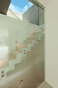 Architecture, new trend design, staircase of modern house