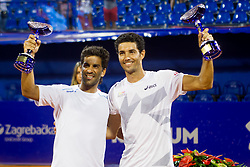 Maximo Gonzalez (ARG) and Andre Sa (BRA) after a tennis match in final round of doubles at 26. Konzum Croatia Open Umag 2015, on July 25, 2015, in Umag, Croatia. Photo by Urban Urbanc / Sportida
