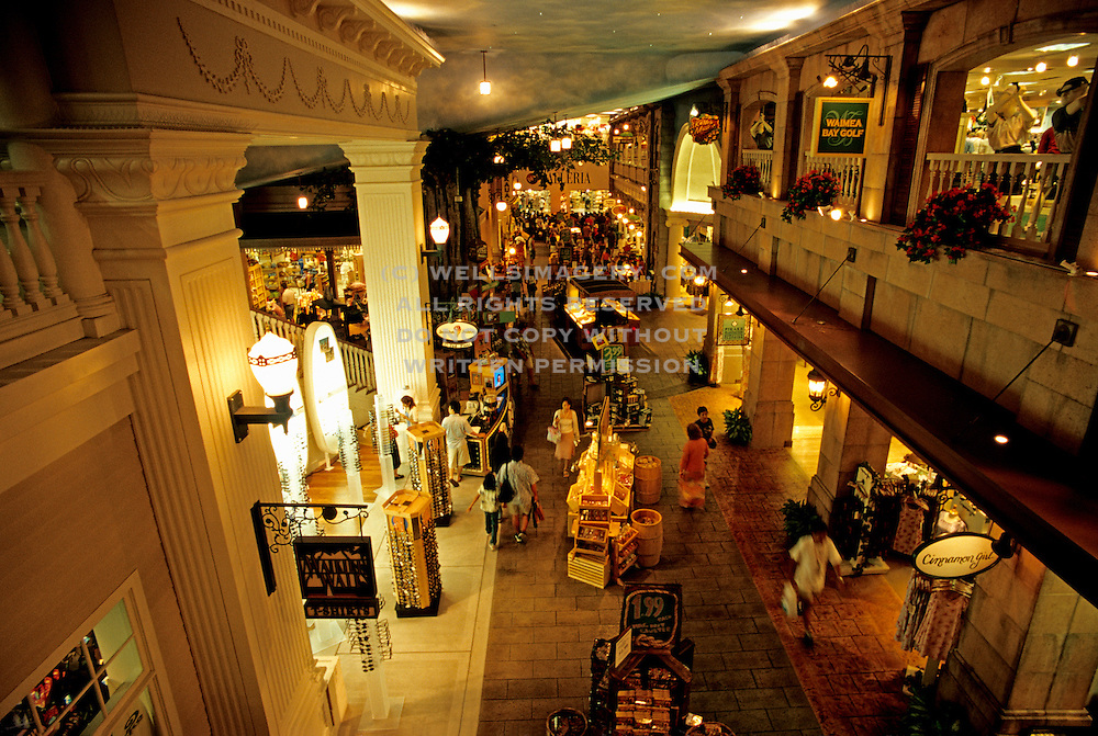 Image of The Galleria on Kalakaua Avenue, Waikiki Beach, Honolulu, Oahu, Hawaii, America west  .