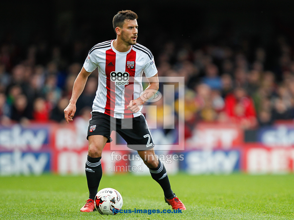 Maxime Colin of Brentford during the Sky Bet Championship match between Brentford and Bristol City at Griffin Park, London<br /> Picture by Mark D Fuller/Focus Images Ltd +44 7774 216216<br /> 01/04/2017