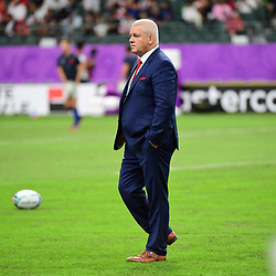 Wales head coach Warren GATLAND during the Rugby World Cup 2019 Quarter Final match between Wales and France on October 20, 2019 in Oita, Japan. (Photo by Dave Winter/Icon Sport) - Oita Stadium - Oita (Japon)