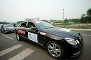 Black Mercedes will be provided for VIPs throughout the 2011 Tour of Beijing - Stage 1 Time Trial, Beijing, China