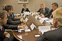 Technology Conference, Anchorage, Alaska, October, 2007, Governor Palin meets with the President of Iceland and his delegation