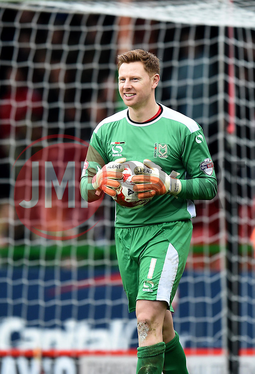 A clean sheet for Milton Keynes Dons' David Martin at The County Ground - Photo mandatory by-line: Paul Knight/JMP - Mobile: 07966 386802 - 04/04/2015 - SPORT - Football - Swindon - The County Ground - Swindon Town v Milton Keynes Dons - Sky Bet League One