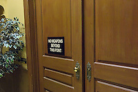 Court room door