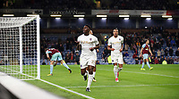 Football - 2017 / 2018 EFL (League) Cup - Third Round: Burnley vs. Leeds United<br /> <br /> Kalvin Phillips of Leeds United  celebrates scoring at Turf Moor.<br /> <br /> COLORSPORT/LYNNE CAMERON