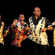 Ladysmith Black Mambazo member Abednego Mazibuko performing at The Music Hall, Portsmouth, NH