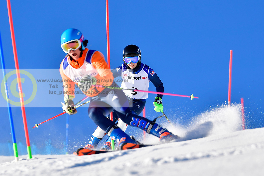 FITZPATRICK Menna, Guide: KEHOE Jennifer, B2, GBR, Slalom at the WPAS_2019 Alpine Skiing World Cup, La Molina, Spain