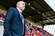 Accrington Stanley manager John Coleman watches from the sidelines during the Sky Bet League 2 match between Crawley Town and Accrington Stanley at the Checkatrade.com Stadium, Crawley, England on 26 September 2015. Photo by Bennett Dean.