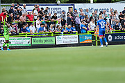 Advertising boards during the EFL Sky Bet League 2 match between Forest Green Rovers and Grimsby Town FC at the New Lawn, Forest Green, United Kingdom on 17 August 2019.