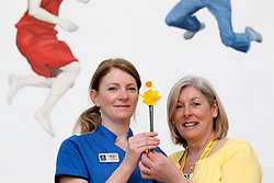 10th April 2013: Repro Free.Cancer support leaps forward with the opening of the latest Irish Cancer Society's Daffodil Centre at the Hermitage Medical Clinic, Dublin. The Daffodil Centre, which is run by Irish Cancer Society Cancer Information Service Nurses and trained volunteers, is an information service on-site in the hospital, where people affected by or concerned about cancer can receive information and support. Pictured at the launch is Gayle Anker Radiation Therapist with Miriam Burrows, Daffodil Centre volunteer. Picture Andres Poveda.