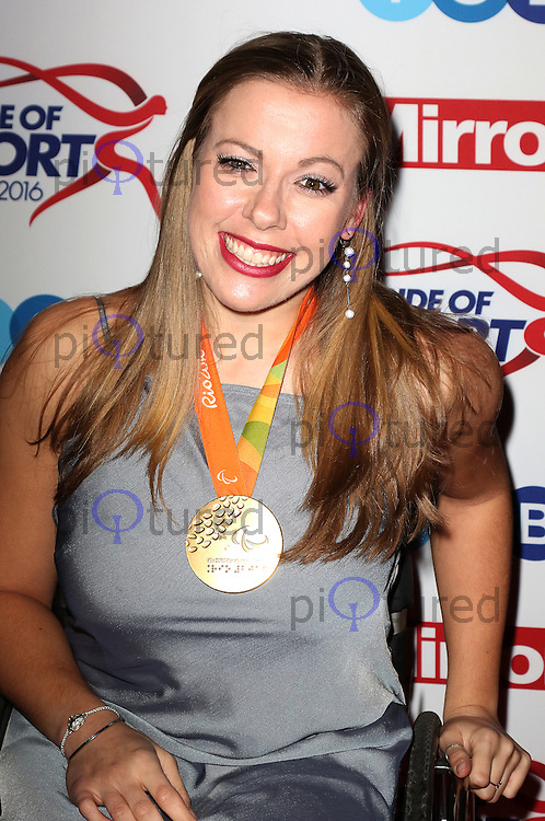 Hannah Cockroft, Pride of Sport Awards, Grosvenor House Hotel, London UK, 07 December 2016, Photo by Richard Goldschmidt