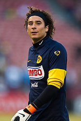 August 4, 2010; San Francisco, CA, USA;  Club America goalkeeper Guillermo Ochoa (1) before the game against Real Madrid at Candlestick Park.
