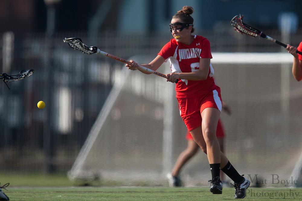 Montclair State Univeristy Lacrosse Freshman Jenna Bussieri (6); Rutgers-Camden Lacrosse against Montclair State University  on Wednesday March 21, 2012. (photo / Mat Boyle)