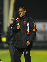 Blackpool Manager, Paul Ince shows his frustrations - Photo mandatory by-line: Joe Meredith/JMP - Tel: Mobile: 07966 386802 03/12/2013 - SPORT - Football - Yeovil - Huish Park - Yeovil Town v Blackpool - Sky Bet Championship
