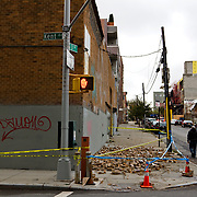The day after Hurricane Sandy in Williamsburg, Brooklyn- New York City