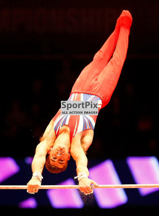 2015 Artistic Gymnastics World Championships being held in Glasgow from 23rd October to 1st November 2015...Max Whitlock (Great Britain) competing in the Horizontal Bar competition..(c) STEPHEN LAWSON   SportPix.org.uk