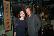 ROBERTA HANLEY; STEPHEN DORFF, Dinner in aid of the China Tiger Revival hosted by Sir David Tang and Stephen Fry  at China Tang, Park Lane, London. 1 October 2013. ,