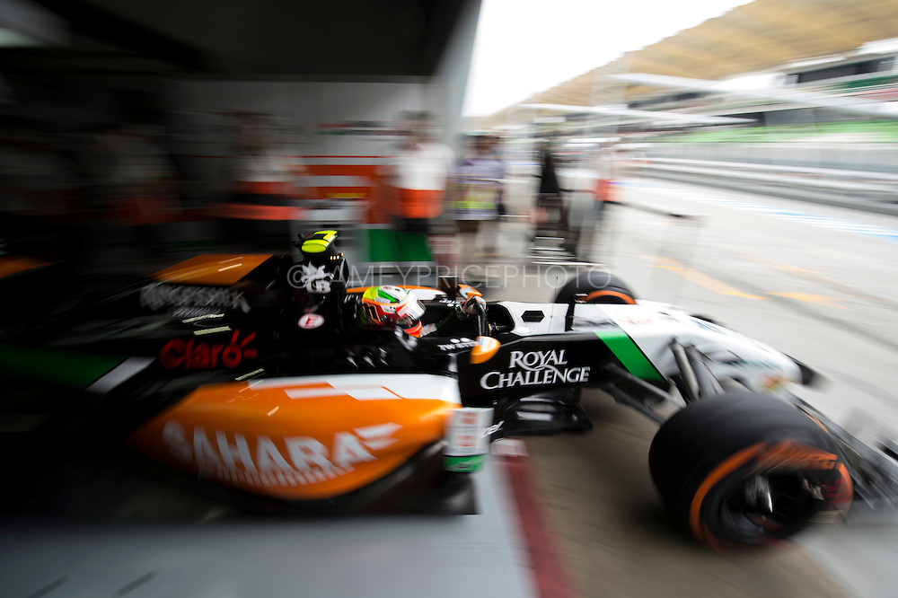 March 29, 2014 - Sepang, Malaysia. Malaysian Formula One Grand Prix. Sergio Perez (MEX), Force India-Mercedes<br /> <br /> &copy; Jamey Price / James Moy Photography
