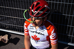 Tough day for Joëlle Numainville - Women's Ronde van Vlaanderen 2016. A 141km road race starting and finishing in Oudenaarde, Belgium on April 3rd 2016.