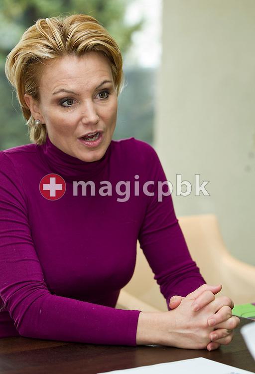 Former world class skier Sonja Nef of Switzerland is pictured during an interview in her house in Moerschwil, Switzerland, Friday, Dec. 31, 2010. (Photo by Patrick B. Kraemer / MAGICPBK)