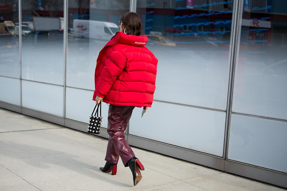 Liz Uy in a Balenciaga Coat - back