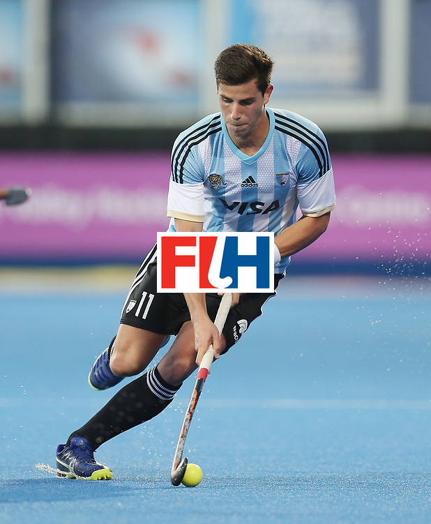 LONDON, ENGLAND - JUNE 16:  Joaquin Menini of Argentina during the Hero Hockey World League semi final match between Argentina and Malaysia at Lee Valley Hockey and Tennis Centre on June 16, 2017 in London, England.  (Photo by Alex Morton/Getty Images)