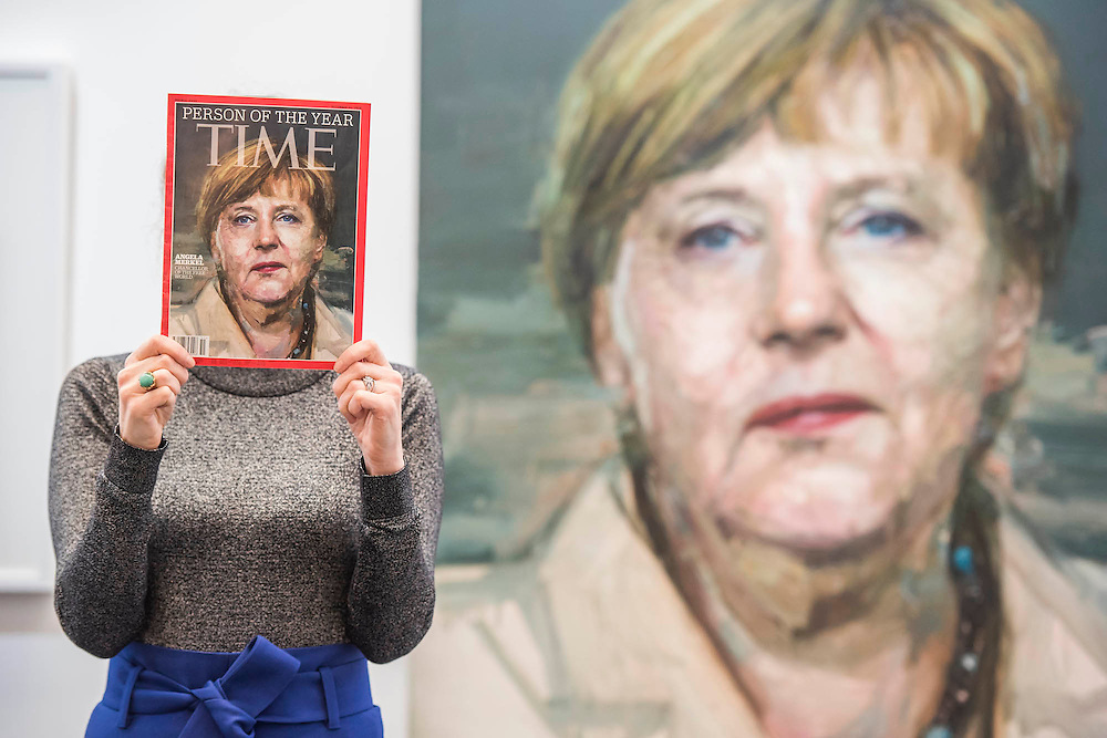 Colin Davidson's portrait of Angela Merkel – London Art Fair for Modern British and contemporary art brings its 28th edition at the Business Design Centre, Islington, from 20-24 January 2016. The Fair includes 126 exhibitors ranging from established UK-based Modern British and contemporary galleries. Highlights include: Colin Davidson's portrait of Angela Merkel – the first UK showing of this iconic work, commissioned from the Irish artist by TIME magazine for their 2015 'person of the year' edition. The portrait is being hung alongside a new, unseen portrait of the British actor Simon Callow - Oliver Sears Gallery (Stand 42);; Viole, a large sculptural work by German born artist Dietrich Klinge, will be included as part of Venet-Haus Galerie's presentation - Venet-Haus Galerie (stand 4).