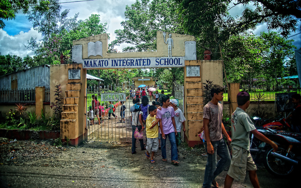 A local school in Makato, a municipality in the Aklan province of Panay Island