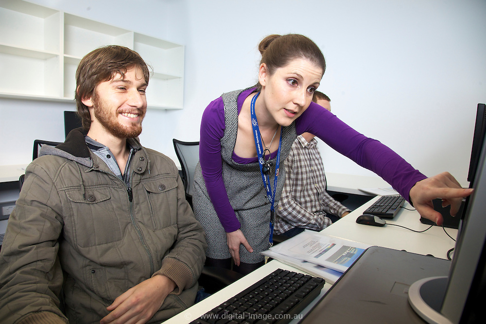 Donna Popov, User Office, Joseph Bartho, (grey jacket) and Liam O'Ryan (check shirt), University of Auckland.