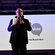 Tony Robinson attends People's vote to Stop Brexit rally due to Brexit vote in Parliament on 15 January 2019, London, UK