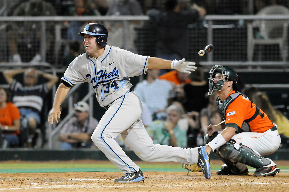 May 16, 2008 - Coral Gables, FL<br /> <br /> Chad Flack #34 of the University of North Carolina in action during the Tar Heels 10-6 victory over the Miami Hurricanes at Mark Light Field at Alex Rodriguez Park in Coral Gables, Florida.<br /> <br /> JC Ridley/CSM